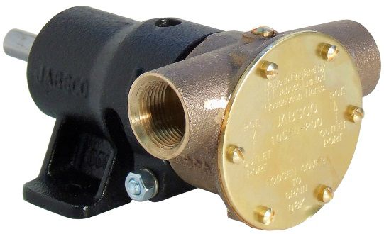 "Jabsco 10550-200, ¾"" bronze pump, 40-size, foot-mounted with BSP threaded ports"