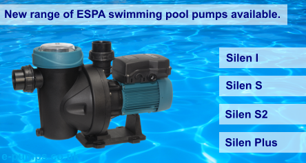 new range of ESPA swimming pool pumps at epumps